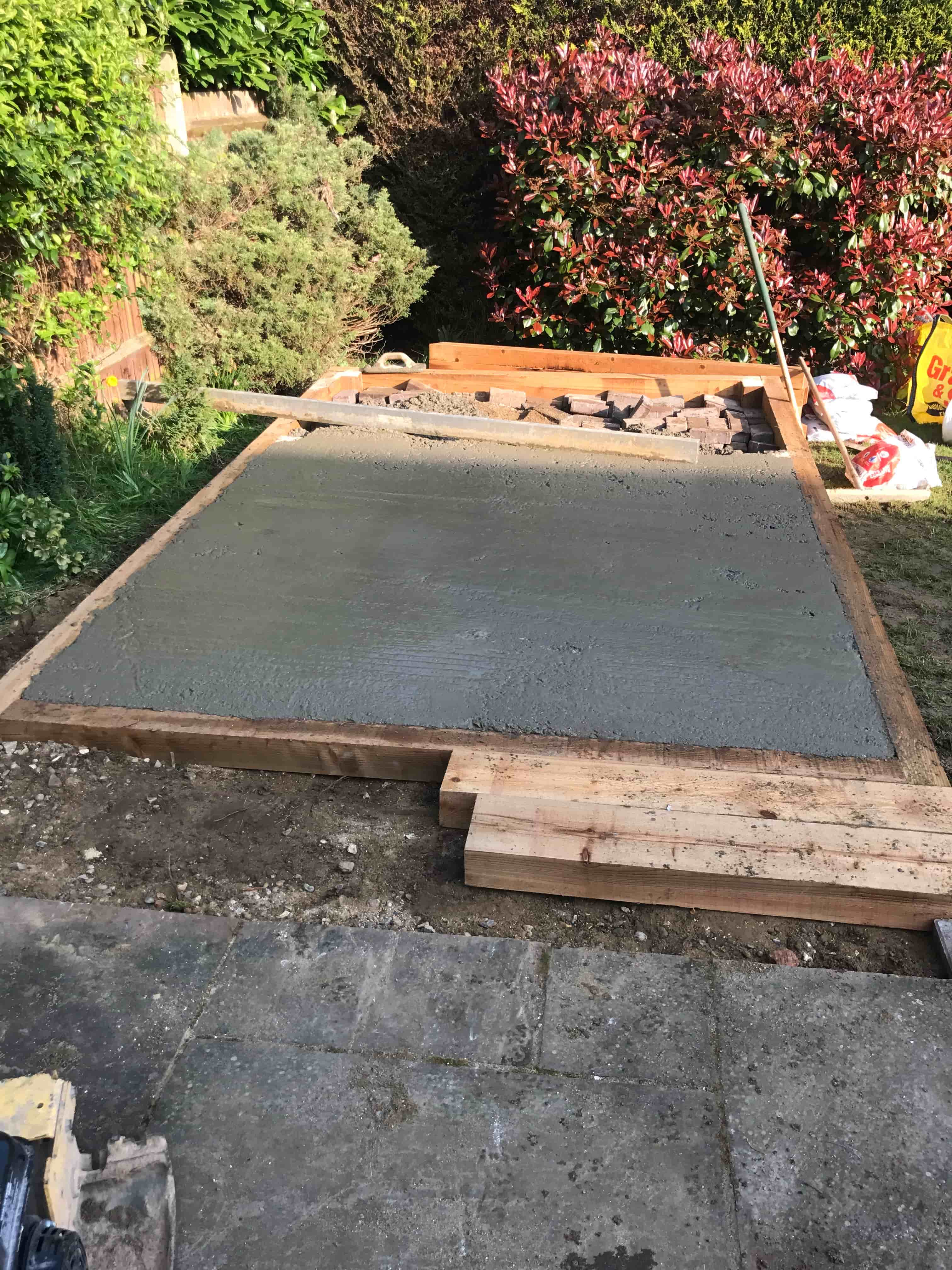 How to create a concrete base acre driveway patios for Base for concrete driveway