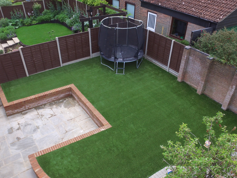 Aerial view of our artificial grass