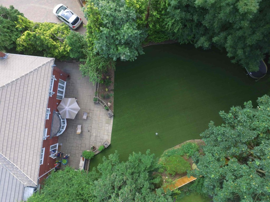 Aerial view of garden created by Acre Driveways