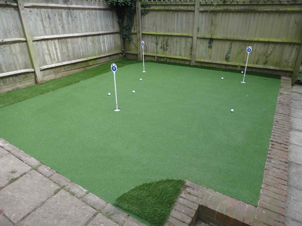 Mini golf course installed by Acre Driveways