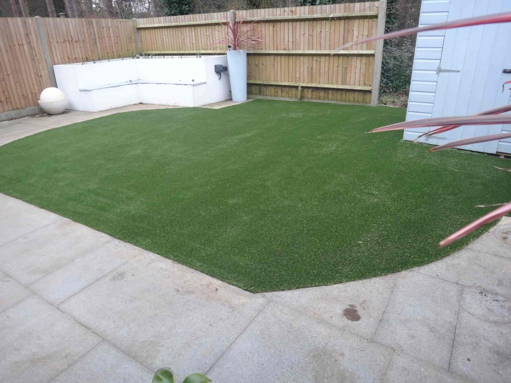 Small patch of Artificial Grass installed by Acre Driveways