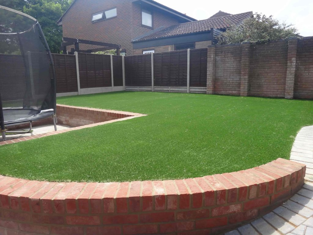 Perfect for children, artificial grass installed by Acre Driveways