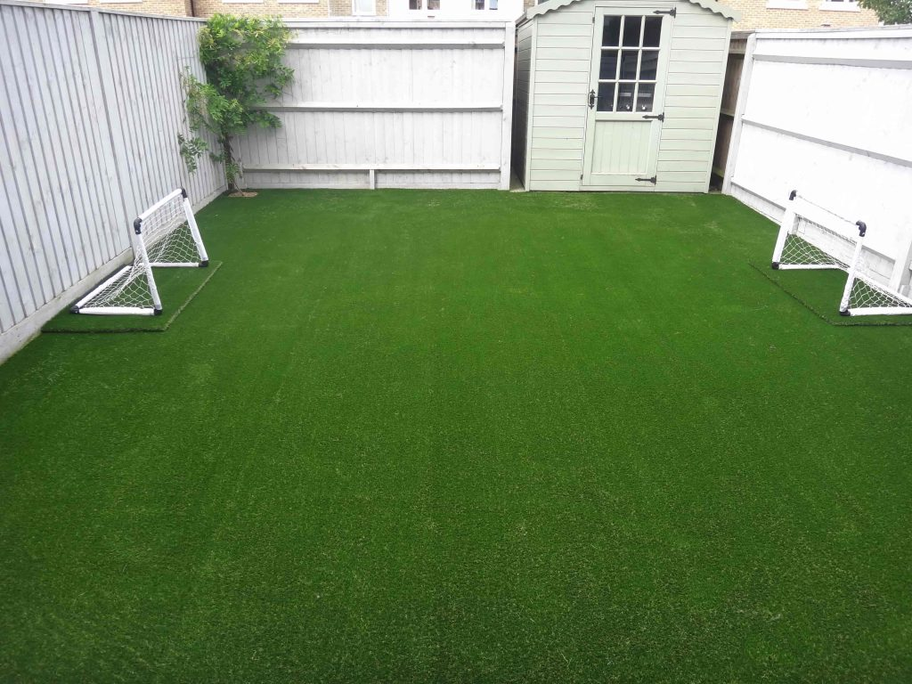 Small football pitch created with Artificial Grass by Acre Driveways