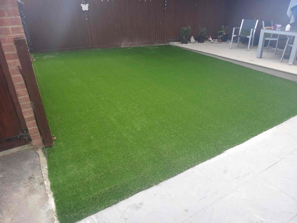 Square of lawn with Artificial Grass by Acre Driveways