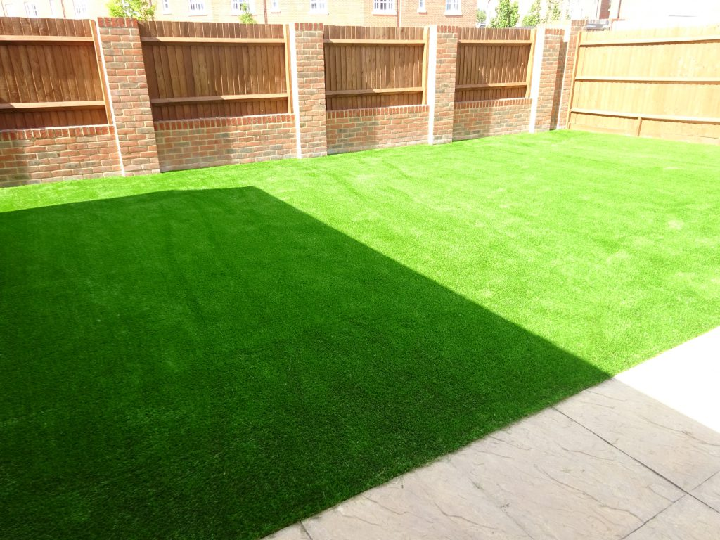 Artificial Grass on a sunny day installed by Acre Driveways