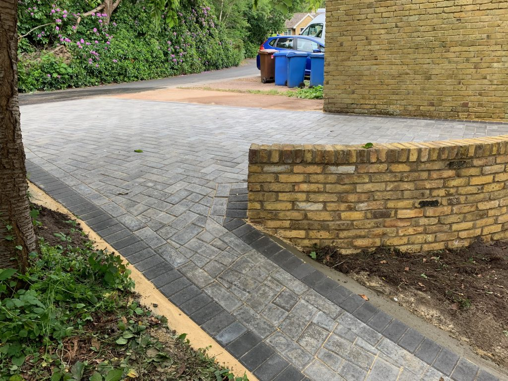 Multi level block paving created by Acre Driveways