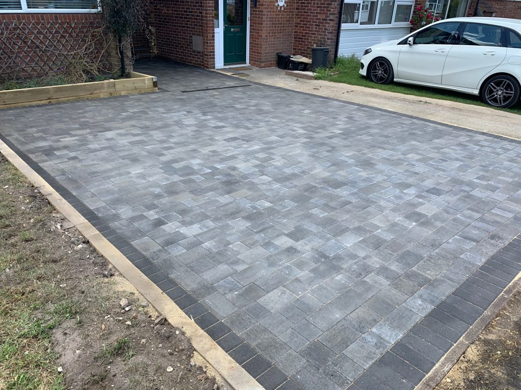 Small driveway with block paving by Acre Driveways