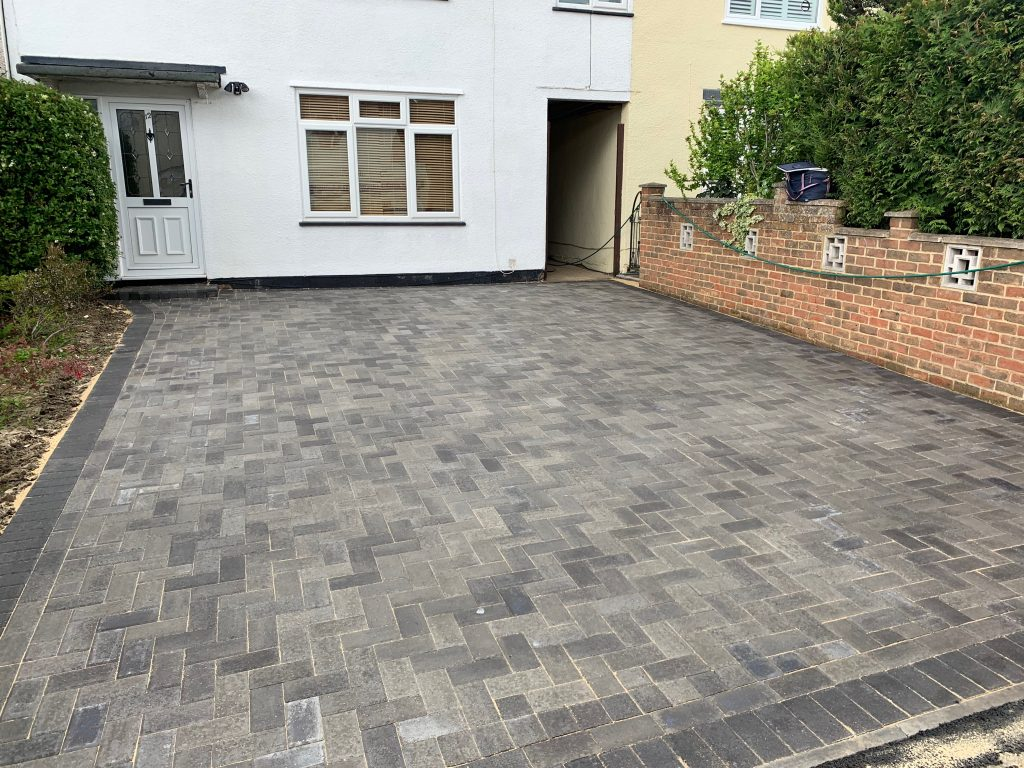 Grey block paving laid by Acre Driveways