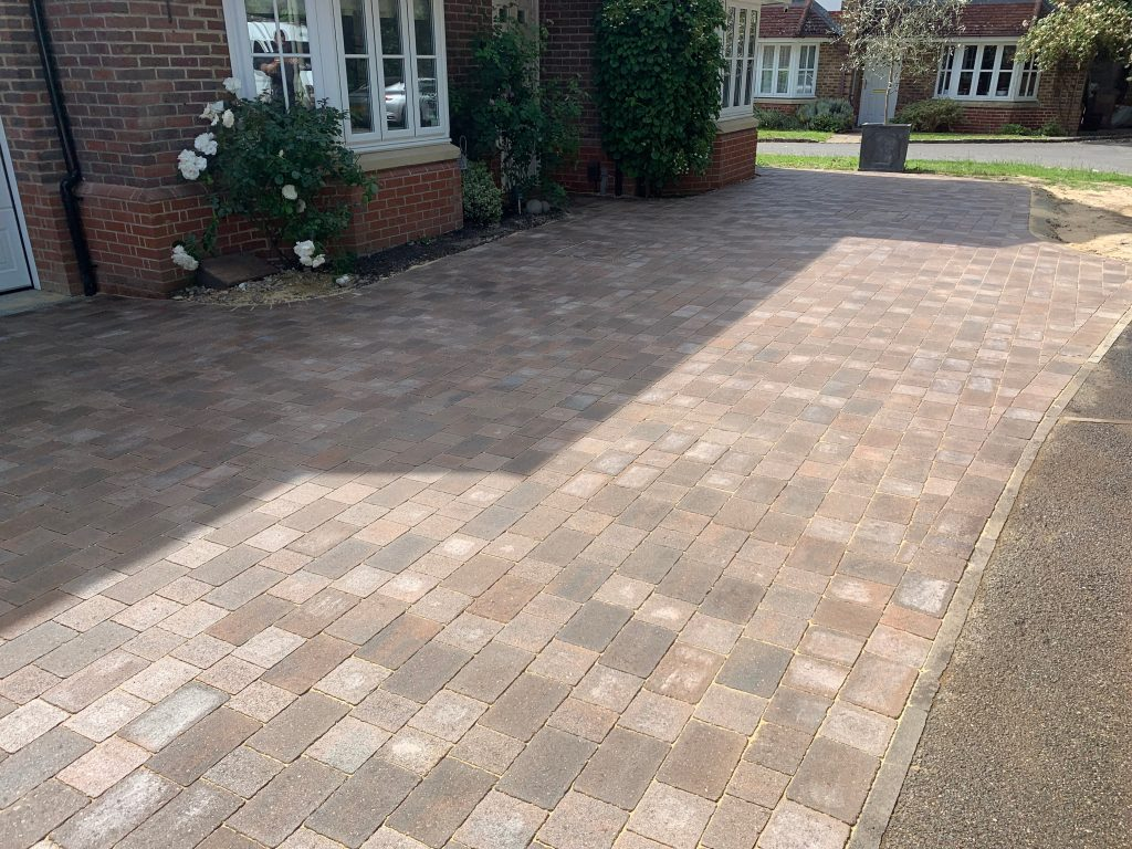 Fresh block paving laid by Acre Driveways