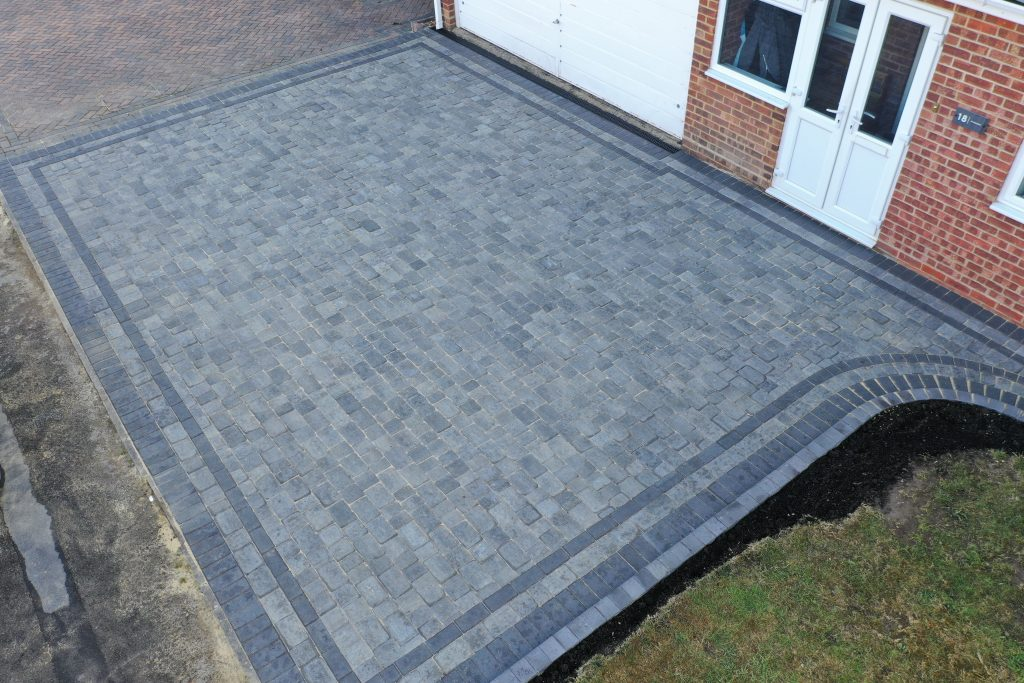 Blue tone block paving by Acre Driveways