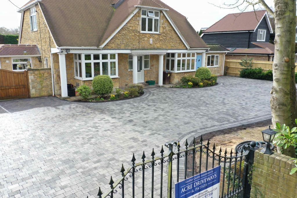 Grey blok paved driveway by acre driveways
